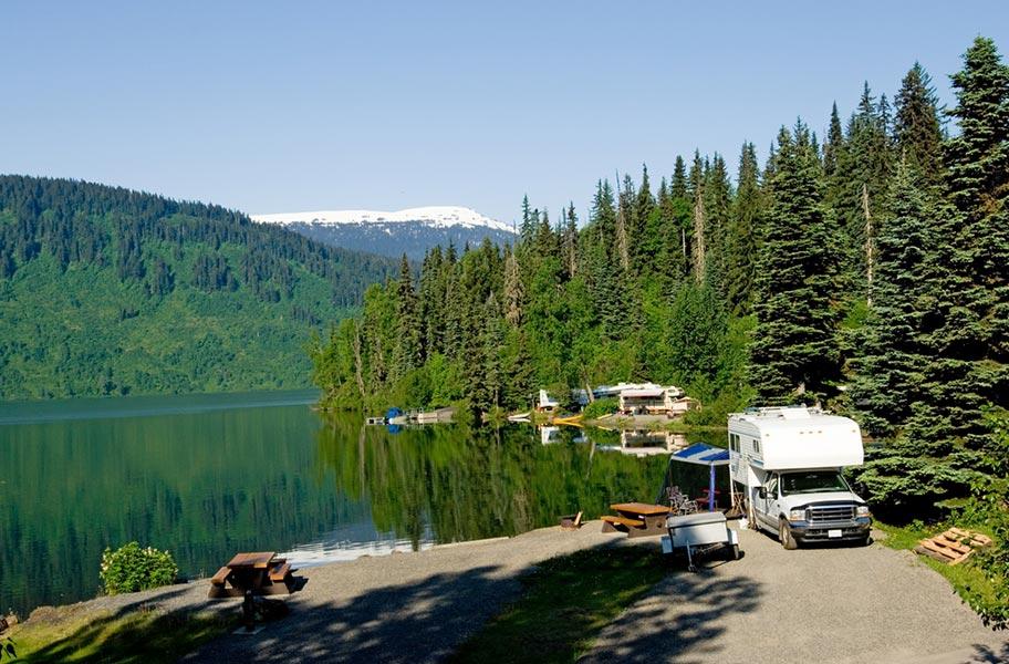 Alaska Camping Plätze Motorhome mieten Schweiz